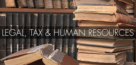 Legal, tax and human resources